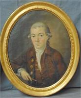 English School 18th century. Pair of Portraits.