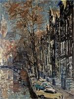 """Frans Berntsen, Oil on Masonite """"Nijmegen"""""""