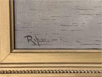 "Virgilio Ripari, Oil on Canvas ""Venice"""