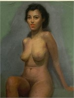 """Pal Fried, Pastel on Paper, """"Female Nude"""""""