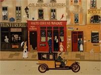 """Michel Delacroix Lithograph, """"Paris Street Scene"""""""
