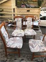 4 Teak Chairs