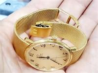 Rare Men's Solid 18K Gold Omega DeVille Watch