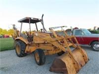 1987 Case 580k diesel 2wd backhoe, w/loader,