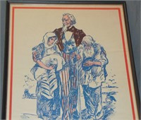 WWI Poster, Uncle Sam's Job Armenia & Syria
