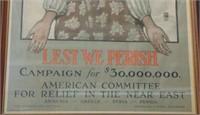 WWI Poster, Lest We Perish
