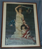 WWI Poster, They Shall Not Perish, Douglas Volk