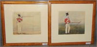 Pair of Military Watercolors, Soldier with Musket