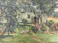 Willard Leroy Metcalf (1858 - 1925) Oil on Board