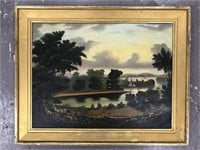 Attributed to Thomas Chambers, Oil on Canvas