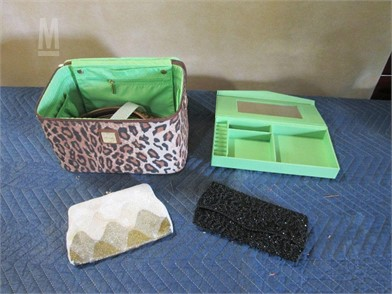 2 Beaded Hand Bags Cosmetic Travel Case Other Items