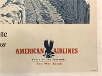 C.1942 American Airlines Buy War Bonds Poster