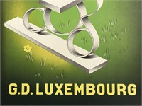 1930's Luxembourg Travel Poster