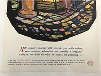 C.1948 London Country Markets Advertising Poster