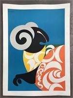 "1969 Simboli ""Aries"" Zodiac Poster"