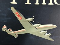 TWA Trans World Airlines Philadelphia Poster