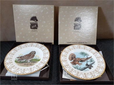 2 Boehm Limited Edition Owl Collector Plates Other Items For