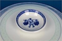 Huge Lot of Blue & White Asian Dinnerware