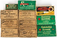 Vintage Ammunition and Boxes