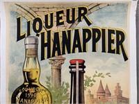 c.1890's Liqueur Hanappier French Wine Poster