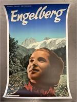 c.1936 Engelberg Swiss Travel Poster