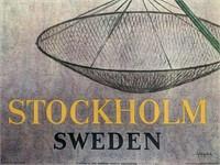 1920's Stockholm Sweden Travel Poster
