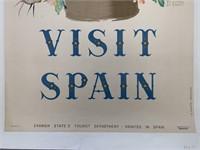 c.1948 Visit Spain Travel Poster