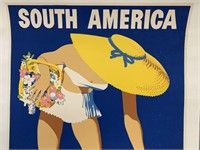 c.1949 South America Argentine Travel Poster