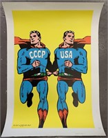 1968 Cold War Superman Style Poster, Cieslewicz
