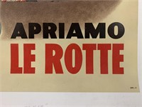 c.1946 Italian Reconstruction Poster