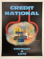 c.1969 Credit National French Poster