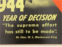 c.1944 Year of Decision War Poster, Mayerovitch
