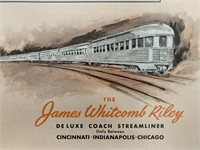 c.1950 James Whitcomb Riley Streamliner Poster