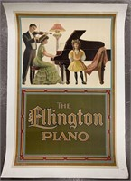 c.1900 Ellington Piano Advertising Poster