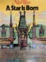 1976 New West Magazine, A Star is Born Poster