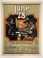 c.1917 War Savings Stamps Poster, Denver Press
