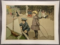 c.1904 Louis Abel-Truchet, Children at Play Poster