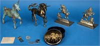 Collection of Unicorn Figures / Bookends / Box