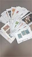 Egypt Stamps Dealer Stock on Cards