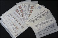 US Stamps Mint NH PNC Coil Strips of 5, Bulk Rate