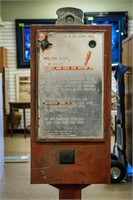Vintage Coin Operated Gas Pump