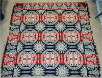 Antique Woven Coverlet Dated1851