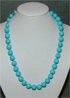 Turquoise and Pearl Necklace.