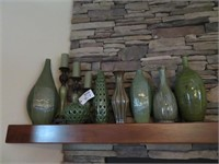 Lot of Assorted Green Decorative Pieces