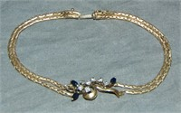 14 Kt Gold and Sapphire Jewelry Lot.