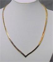 14 K Tri Color Necklace.