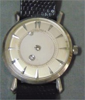 14K White Gold Gent's LeCoultre Mystery Watch.