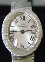 14 K White Gold Jules Jergenson Watch.