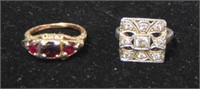 Lot of Two Gold Rings. Estate Material.