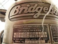 Bridgeport milling machine, power feed, vice, 3